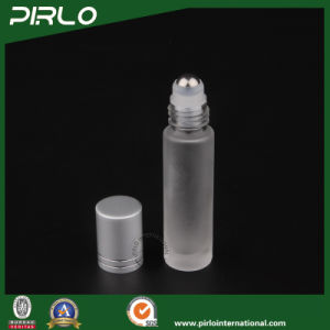 10ml Frosted Glass Roll on Bottle with Metal Roller and Silver Cap pictures & photos