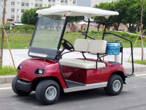 2 Seater Red Electric Golf Shuttle Cart pictures & photos