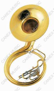 Bb Key Gold Lacquer Sousaphone (TUS-100L) pictures & photos