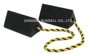 Rubber Aircraft Wheel Chocks for Airplane