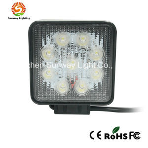 Square Shape 27W LED Work Light for SUV/Jeep/Truck