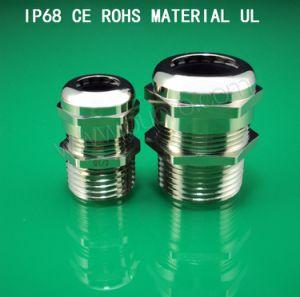 Metal/Metallic Cable Gland,G Series,Brass Plated Nickel, Waterproof, Dustproof, IP68, CE, RoHS