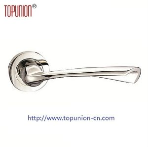 High Security Ss304 Solid Door Lever Handle (CLH024) pictures & photos