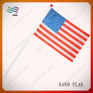 Plastic Hand Waving American Flag for Activity (HYHF-AF079) pictures & photos