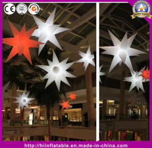 Commercial Ceiling Decoration, Inflatable LED Star for Wedding Party Events