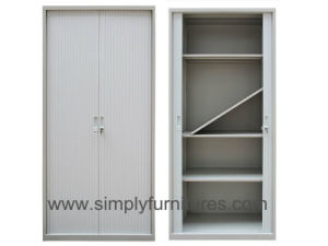 Metal Office Rolling Door Storage Cabinet with 4 Shelves pictures & photos