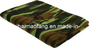 100%Polyester Polar Fleece Army/Military Blanket pictures & photos