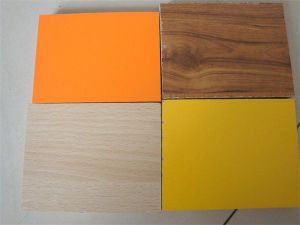 Hotselling Melamined Plywood, Fancy/Wood/Plain Color pictures & photos