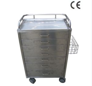 Stainless Steel Hospital Medicine Trolley (THR-MTS74) pictures & photos