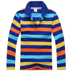 High Quality Combed Cotton Kids Polo Shirt (S-14) pictures & photos