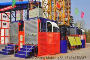 Hongda Excellent Quality Construction Elevator (SC200/200) pictures & photos