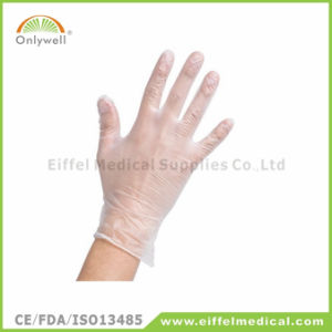 Medical First Aid Powdered Nitrile Examination Gloves pictures & photos