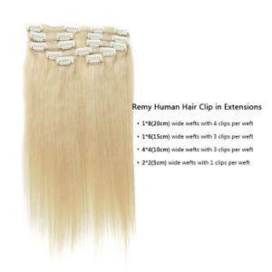 Peruvian Virgin Hair Clip-in Hair Extension Bundles 100% Human Hair Weave pictures & photos