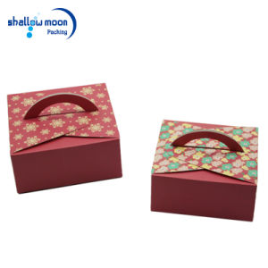 Pink Card Paper Printing Cake Packing Box (QY150399) pictures & photos