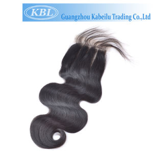 100% Natural China Bleach Knot Lace Frontal Closure with Bundles pictures & photos