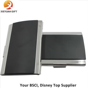 Stainless Steel Leather Name Card Business Card Holder pictures & photos