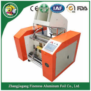 Semi-Automatic Aluminum Foil Roll and PVC Foil Cutting and Rewinding Machine pictures & photos
