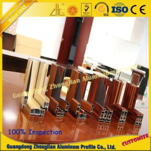 Customized Aluminium Extrusion Profile Electrophoresis Wood Grain for Window Profile pictures & photos