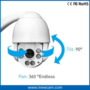 4MP PTZ Remote Control IR IP Camera Rotating 360 Degree Speed Dome pictures & photos