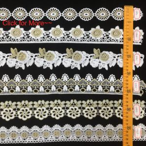 High Quality Factory Colored Lace Trim with Customized Pattern Click for More pictures & photos