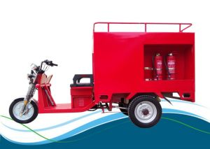 Enviornmental Four Passengers 800W Electric Tricycle for Collecting Garbage pictures & photos