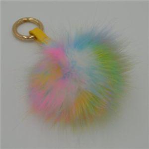 Faux Fur Ball POM Key Chains pictures & photos