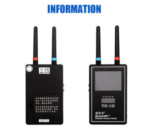 Video Scanner Image Display Multi Wireless Camera Lens Detector Full-Range Anti-Candid Mini Wireless Camera Hunter Full Band Spy Camera Detector pictures & photos