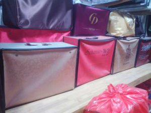 Stock Customized Long PP PU Non Woven Suits Dresses Bags B99 pictures & photos