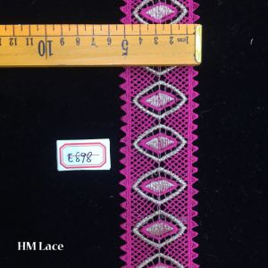5.5cm Pink Lip Crochet Trim Lace with Triangle Fringe for Garment Hme898 pictures & photos