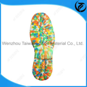 Cheap Factory Price Camouflage Mixed Colour Outdoor Shoe Soles pictures & photos