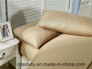 100% Cotton King Size Dyed Solid Bed Sheet Set pictures & photos