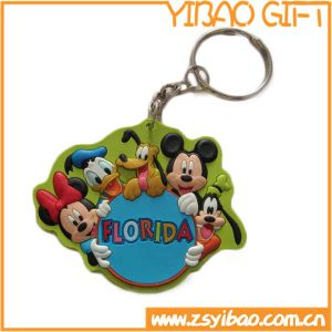 Car Logo Genuine Leather Keyring with Metal Part (YB-LK-07) pictures & photos