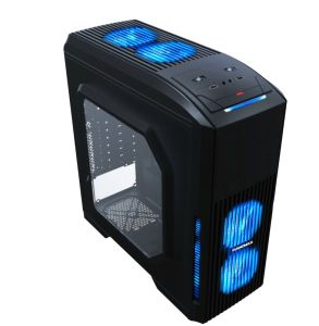 Gaming Case with More Bright LEDs Fan, Air-Flow Fast Design pictures & photos
