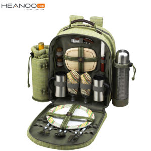 Camping Outdoor Folding Portable Meal 4 Person Table Ice Cooler Picnic Backpack pictures & photos