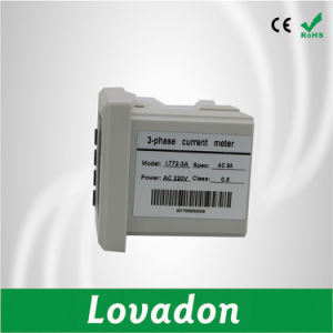 Lt72-3A Digital Electrical Meter 72*72mm Three Phase Current Meter pictures & photos