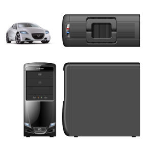Computer Case with Car Style Design, Dual Carry Handle on Top pictures & photos