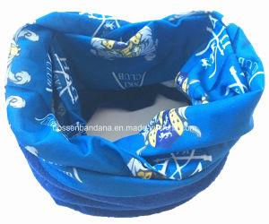 China Factory OEM Produce Customized Design Print Blue Microfiber Ski Polar Fleeceneck Scarf Tubular pictures & photos