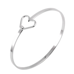 Adjustable Silver Wire Love Heart Bangles Bracelet for Women pictures & photos