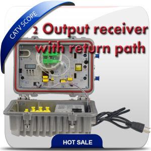 1GHz 2 Way Output FTTH Fiber Optic Receiver/Indoor Optical Node 2xoutput pictures & photos
