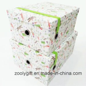 Customized Paper Storage Gift Box with Elastic Band pictures & photos