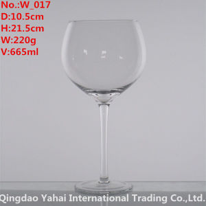 665ml Clear Wine Glass for Whisky pictures & photos
