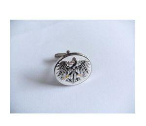 Eagle Pattern Logo Cufflink Round Silver Plated Cufflink (GZHY-XK-003) pictures & photos