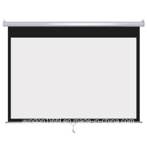 70X70 Inch Manual Projection Screen with High Quality and Cheap Price pictures & photos