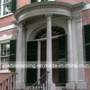 Porch Decoration Marble Columns Solid Pillars pictures & photos