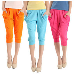 Women Fashion Candy Colors Cropped Harem Pants (SR8206) pictures & photos