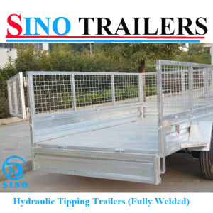 Australian Farm Trailer Tandem Cage Tipping Trailer pictures & photos