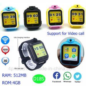 Newest 3G Kids GPS Tracker Watch with Video Call D18s pictures & photos