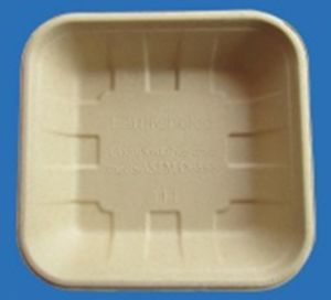 Bamboo Pulp Tray/ Disposable Fruit Vegetable Packaging Tray pictures & photos