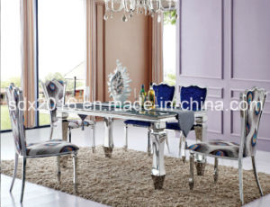 Stainless Steel Wedding Hotel Banquet Fabric Side Dining Chair pictures & photos