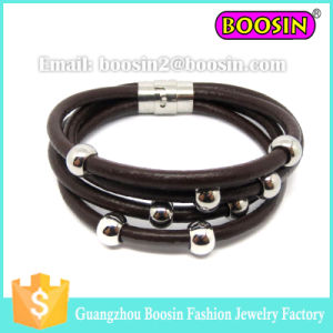 2016 Hot Sale Men′s Leather 18k Gold Love Bracelet Jewelry pictures & photos